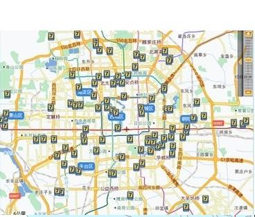 企业电子地图制作-公司客户分布电子地图制作-子公司