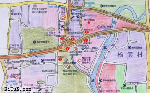 由于比例尺较大,手绘地图还考验社员们绘制大小路径的准确性,各个交叉